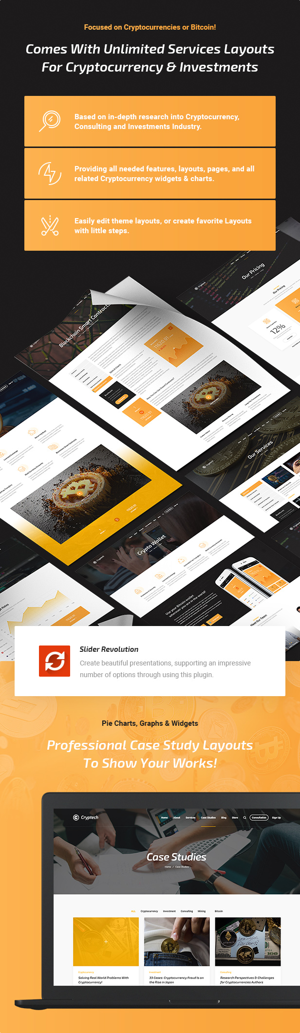 Cryptech - Responsive Bitcoin, Cryptocurrency and Investments HTML Template - 3
