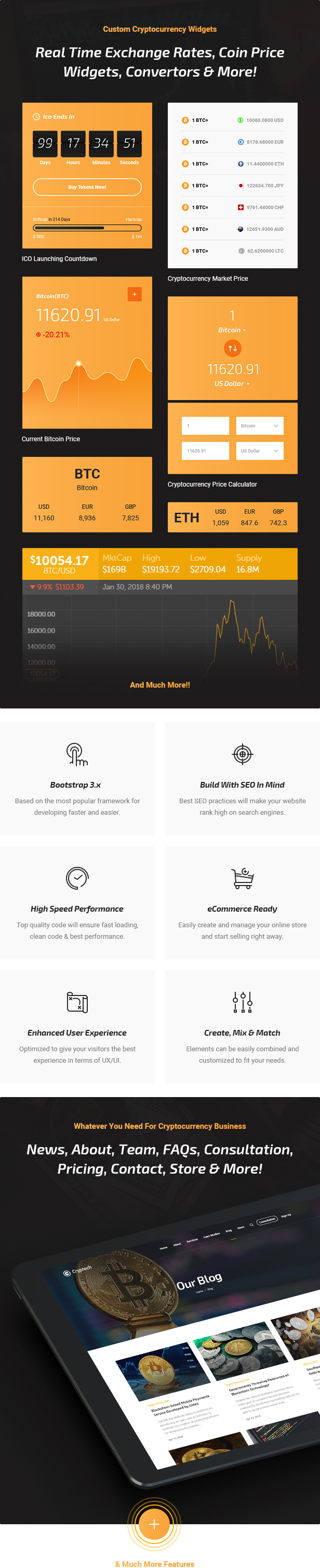 Cryptech - Responsive Bitcoin, Cryptocurrency and Investments HTML Template - 4