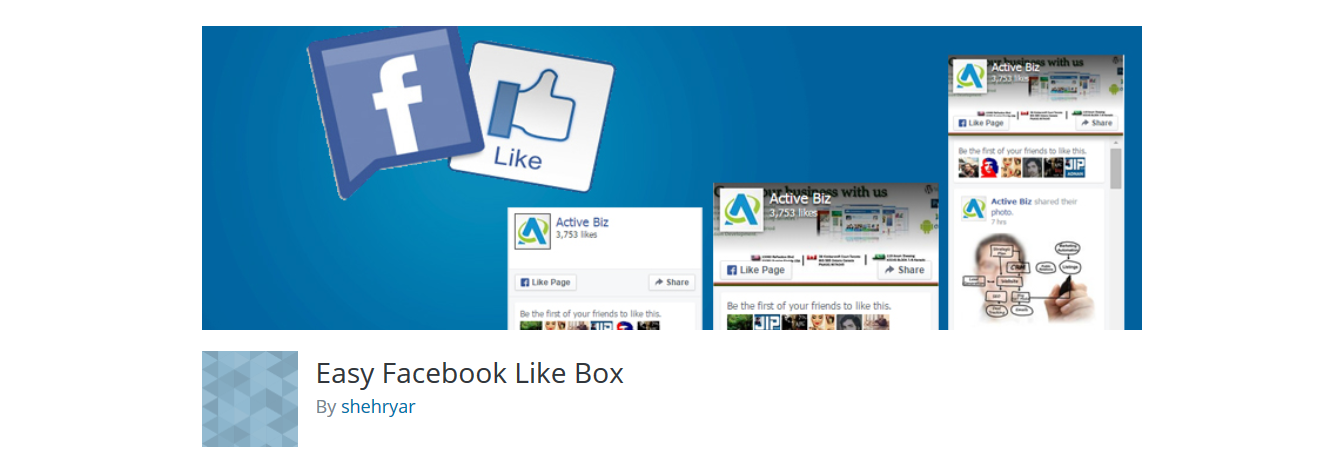 easy facebook like box plugin