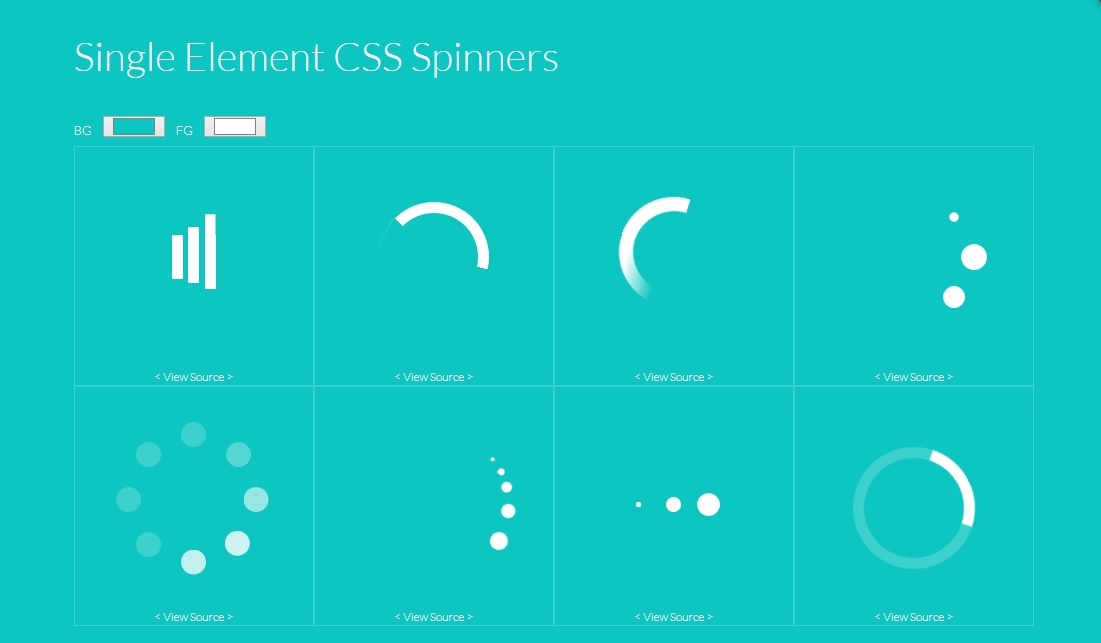 example for CSS loader icons