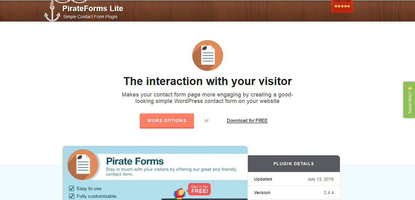 Pirate form contact form plugin