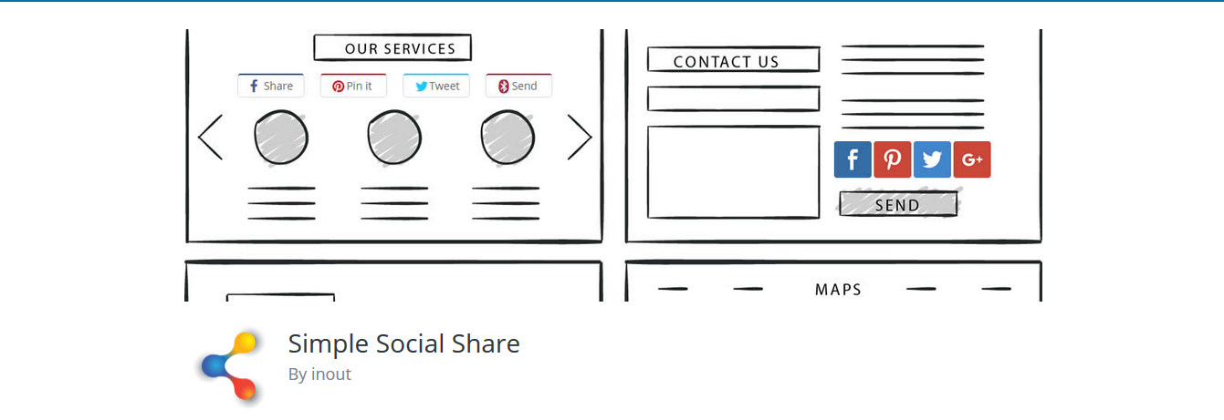 simple social share plugin
