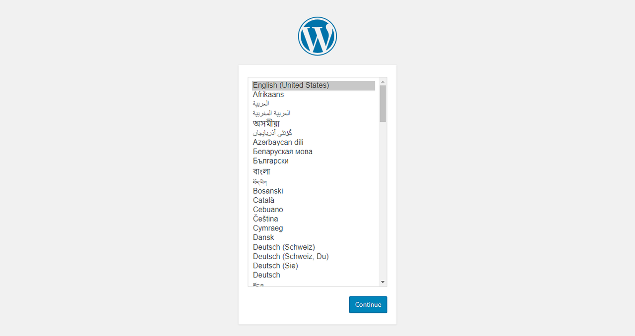 wordpress choosing language