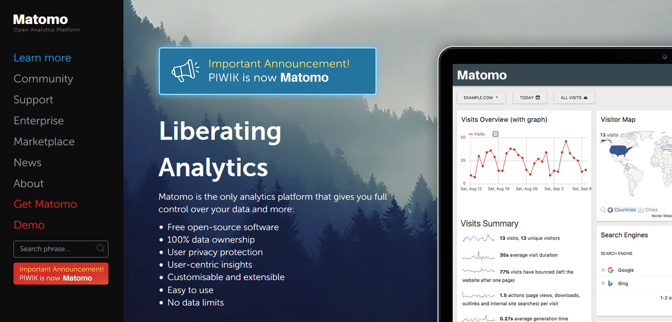Matomo Analytics plugin