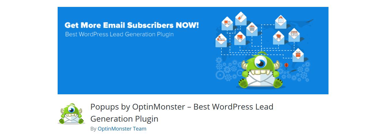 optinMonster email marketing plugin