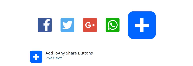 AddToAny social media plugin