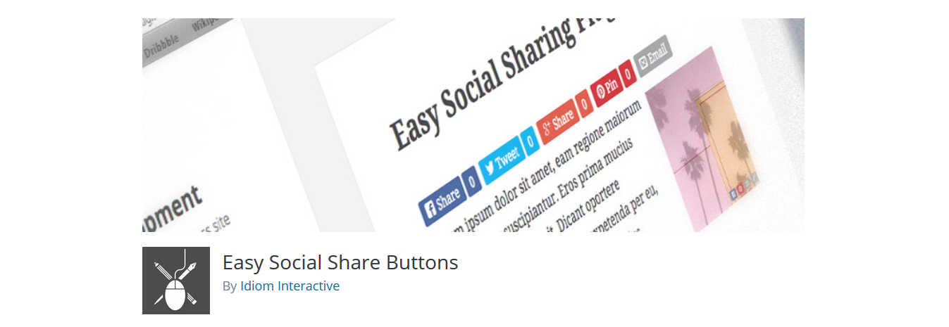 Easy social share button
