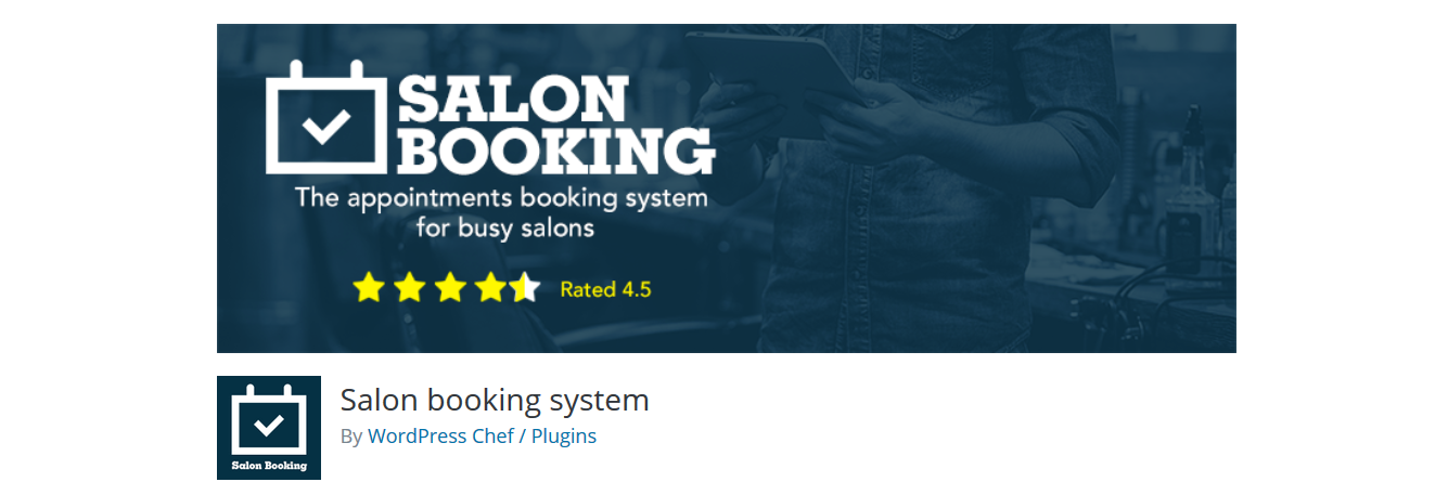 Salon Booking plugin