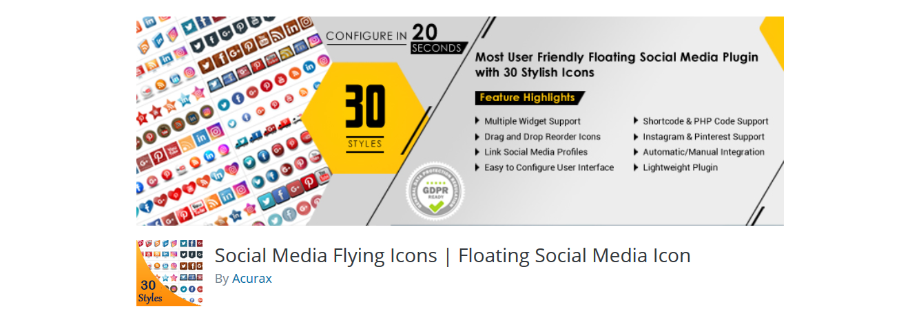 Floating Social Media Icon