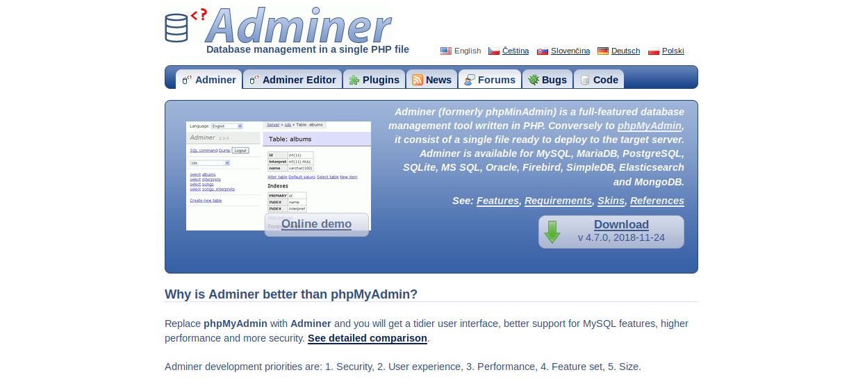 Adminer_WordPress_plugin