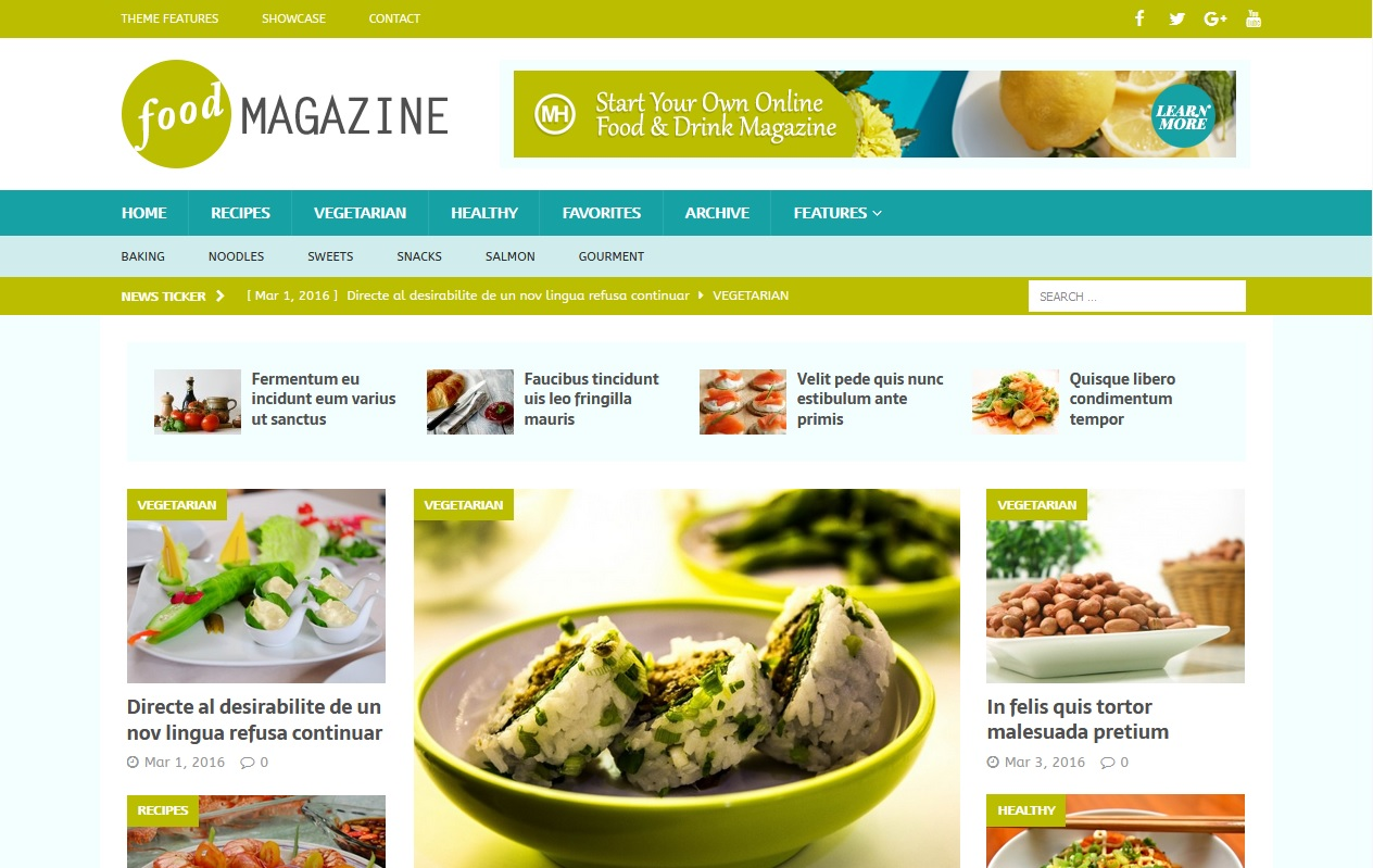The best Free Food WordPress Themes For Restaurants, Cafes, Recipes, & Food Blogs 9