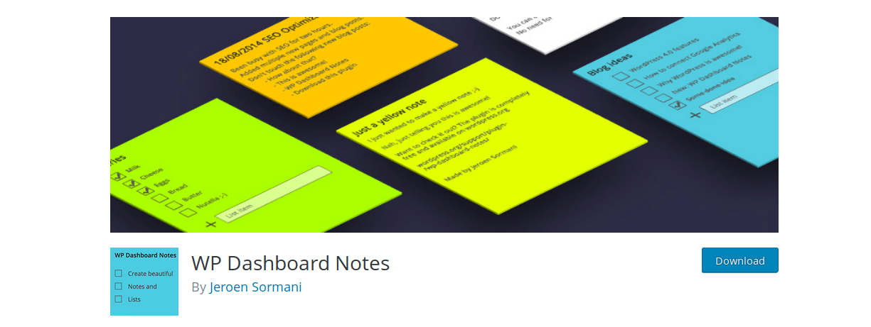 WP_dashboard_notes