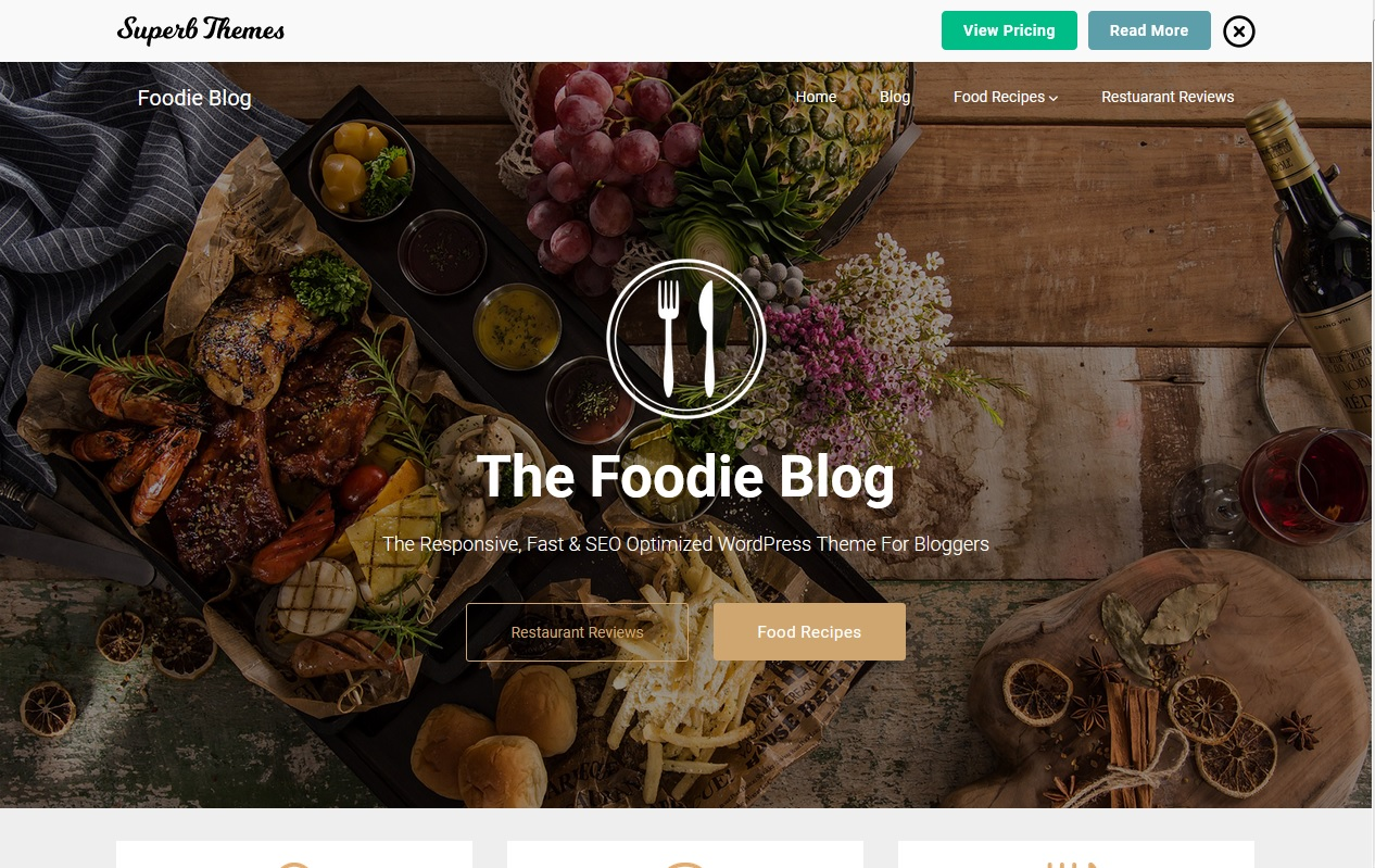 The best Free Food WordPress Themes For Restaurants, Cafes, Recipes, & Food Blogs 4