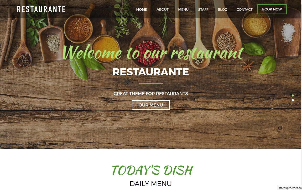The best Free Food WordPress Themes For Restaurants, Cafes, Recipes, & Food Blogs 5