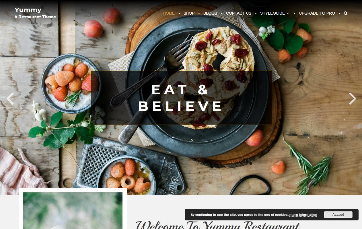 The best Free Food WordPress Themes For Restaurants, Cafes, Recipes, & Food Blogs 8