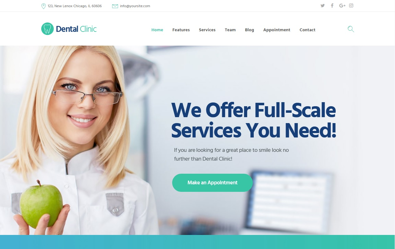 The Best Dentists WordPress Themes 2