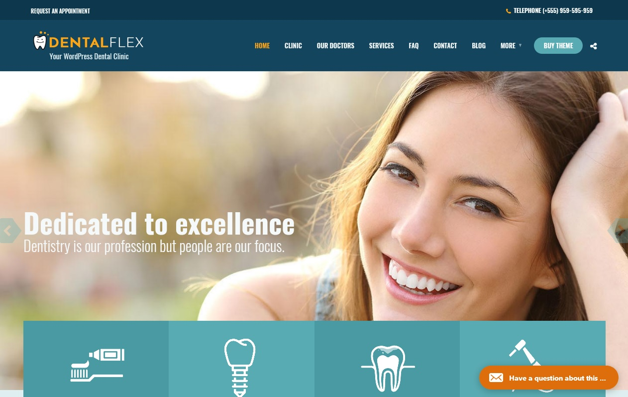 The Best Dentists WordPress Themes 3