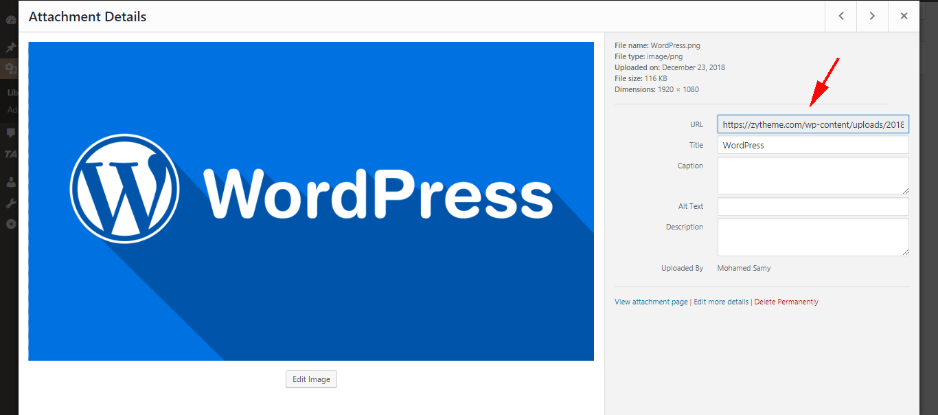 getting the url of images you upload in WordPress get the image url