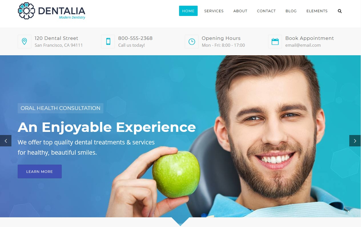 The Best Dentists WordPress Themes 8