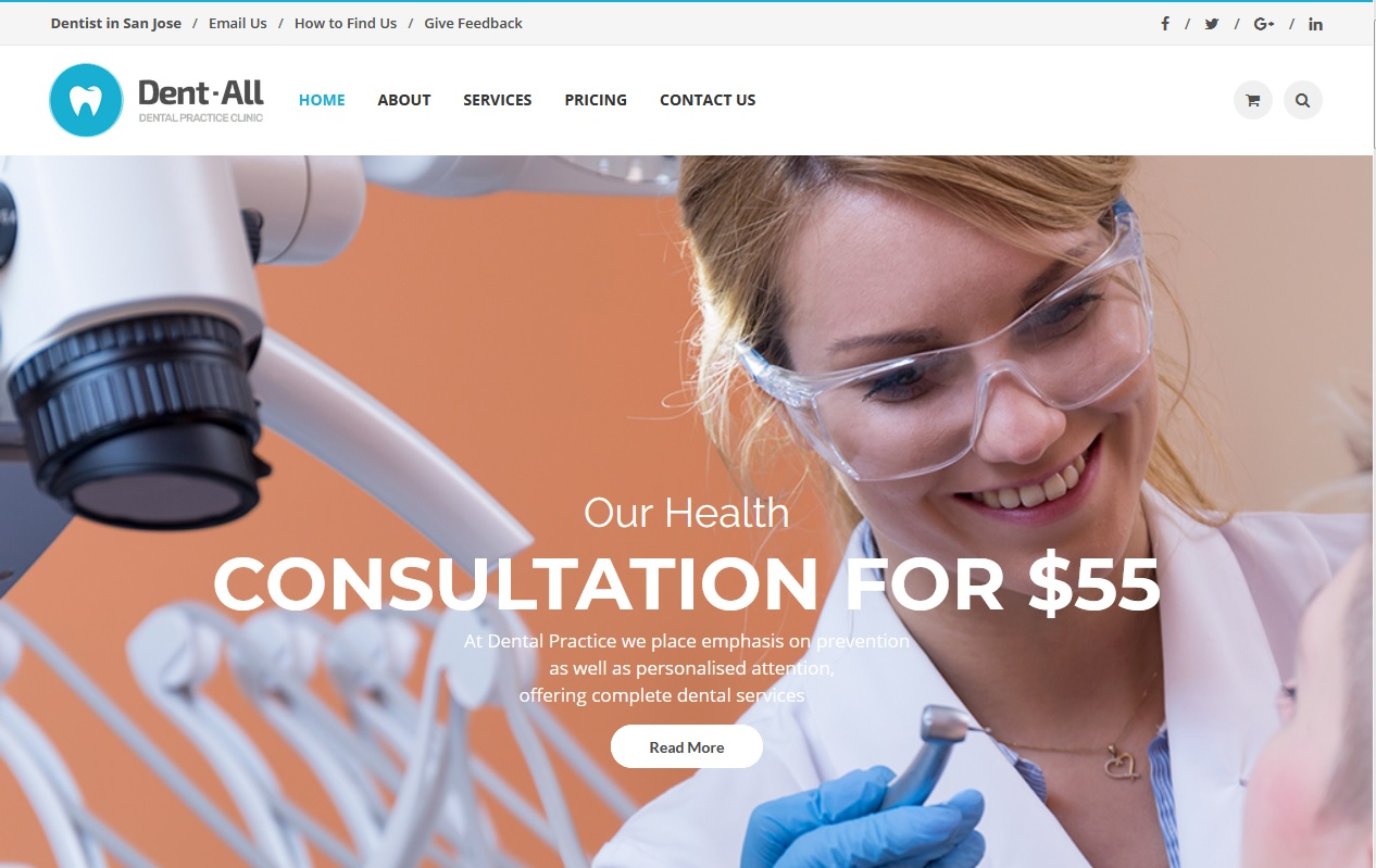 The Best Dentists WordPress Themes 1