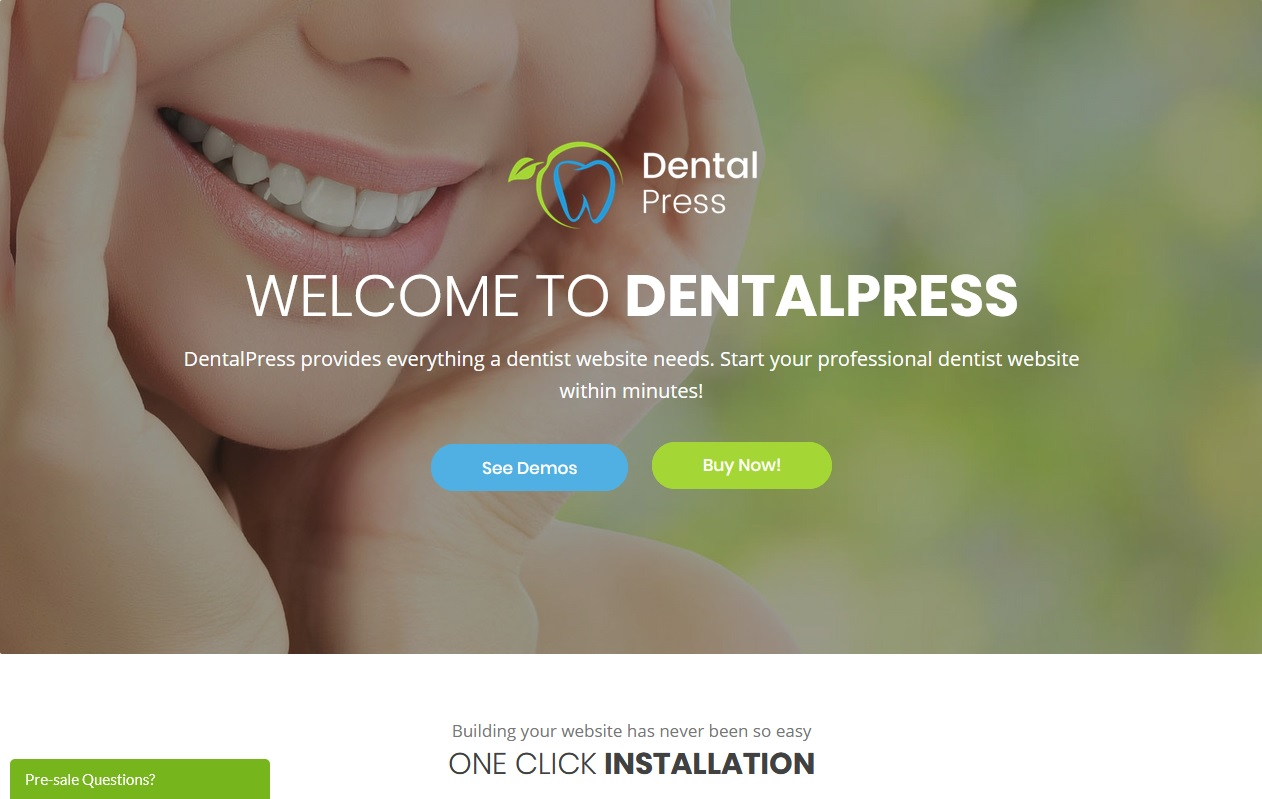 The Best Dentists WordPress Themes 9