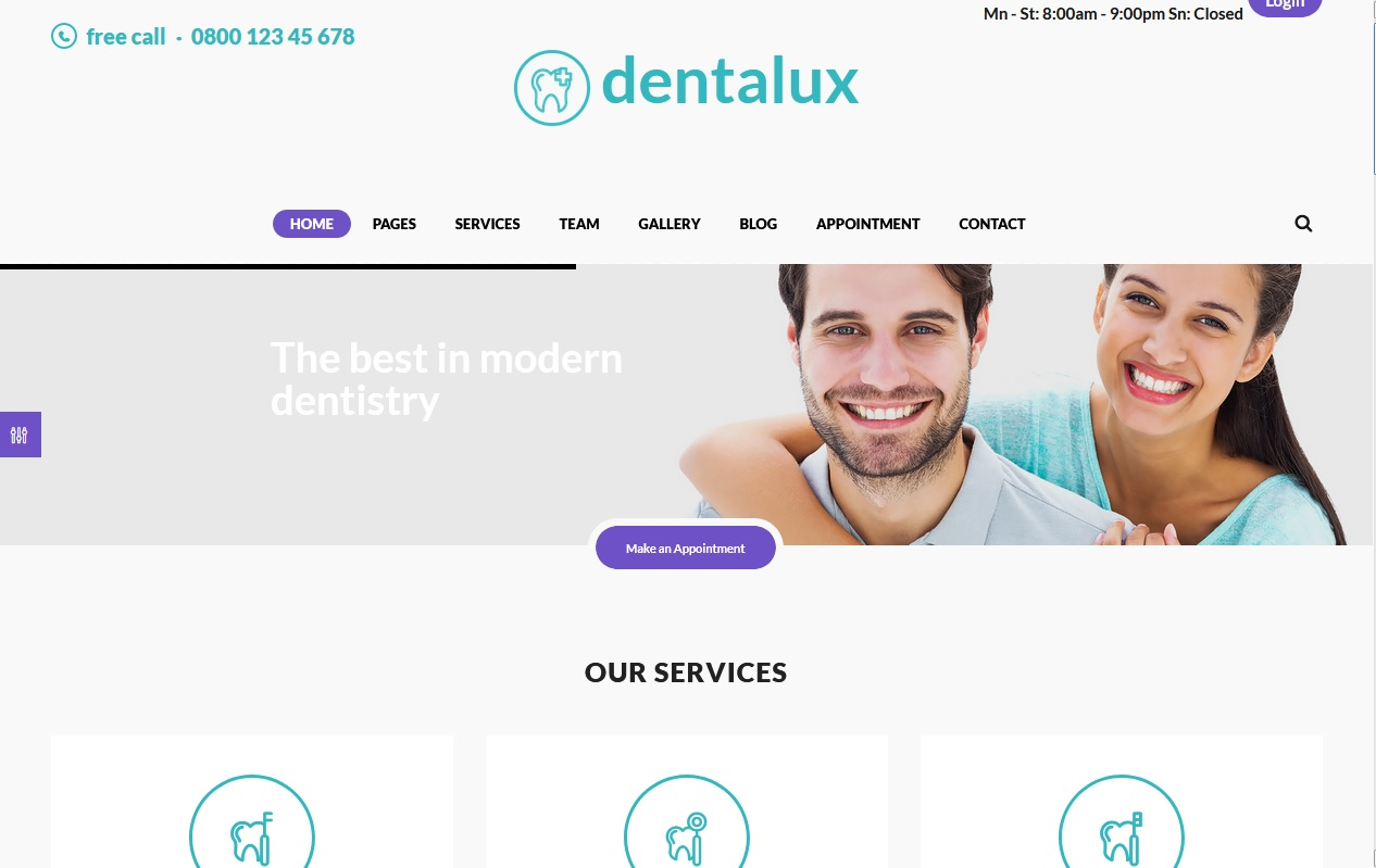 The Best Dentists WordPress Themes 7