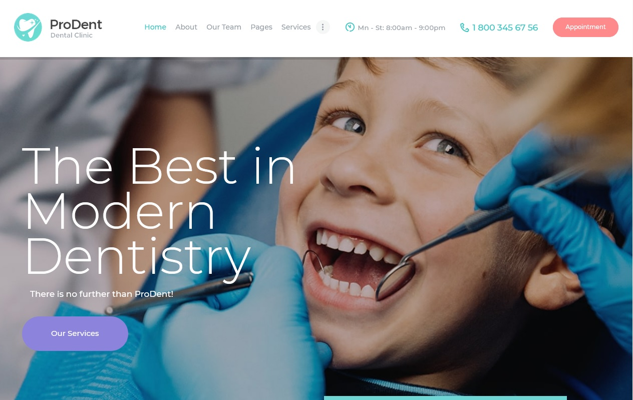 The Best Dentists WordPress Themes 5