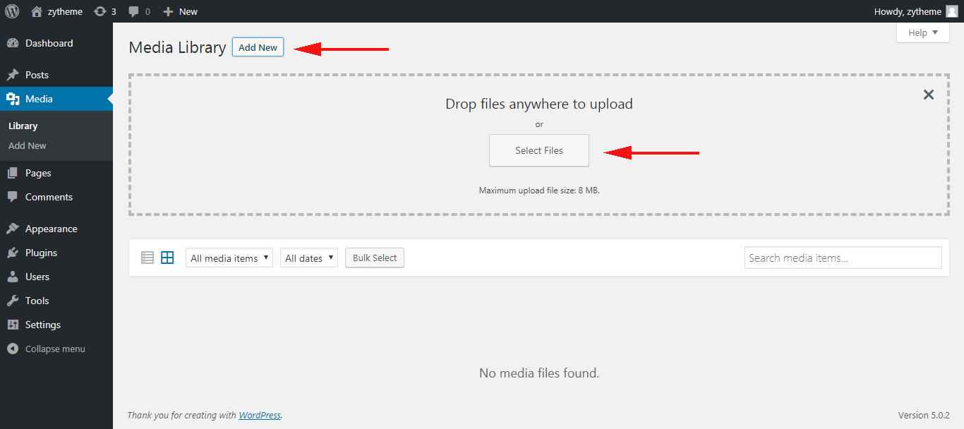 getting the url of images you upload in WordPress add new