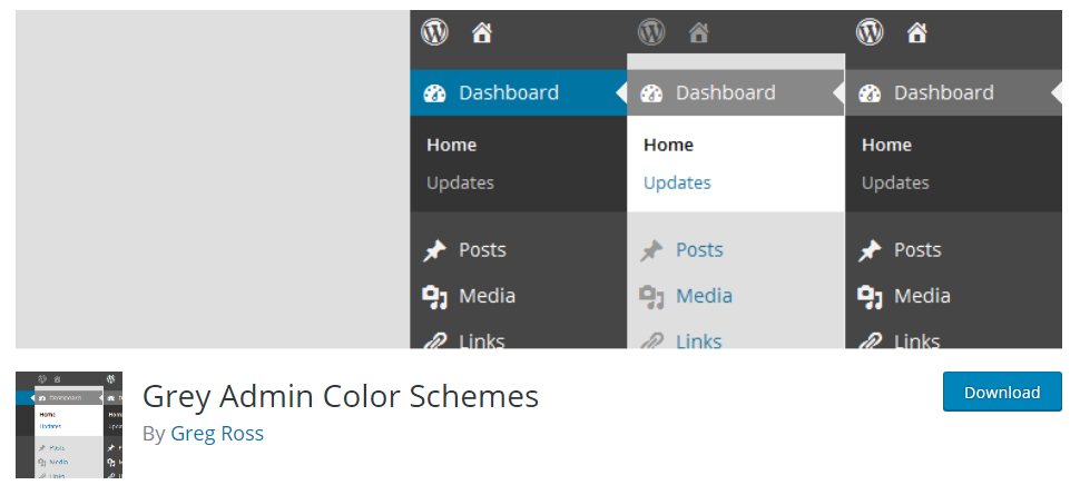 Grey Admin Color Schemes plugin
