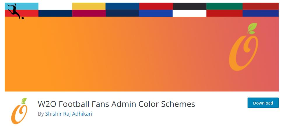 W2O Football Fans Admin Color Schemes plugin