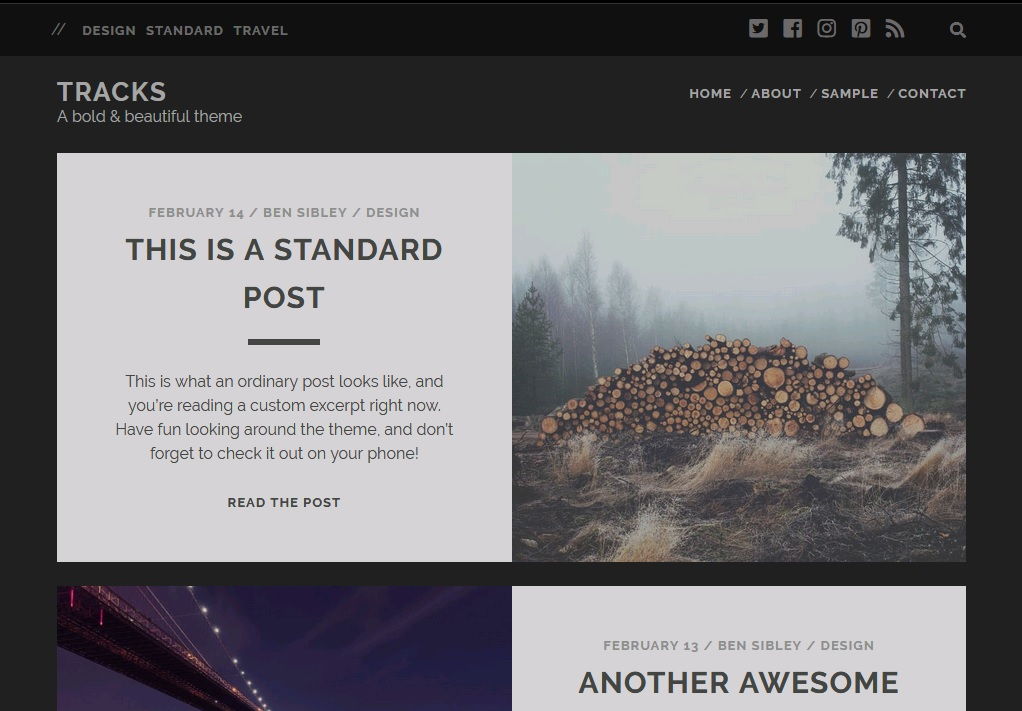 10+ of  best blogging theme for WordPress 8