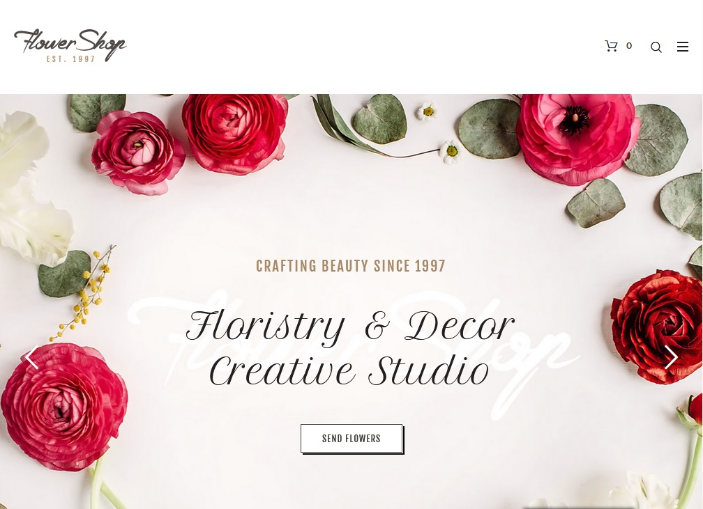 The best flower shop WordPress themes 2020 5