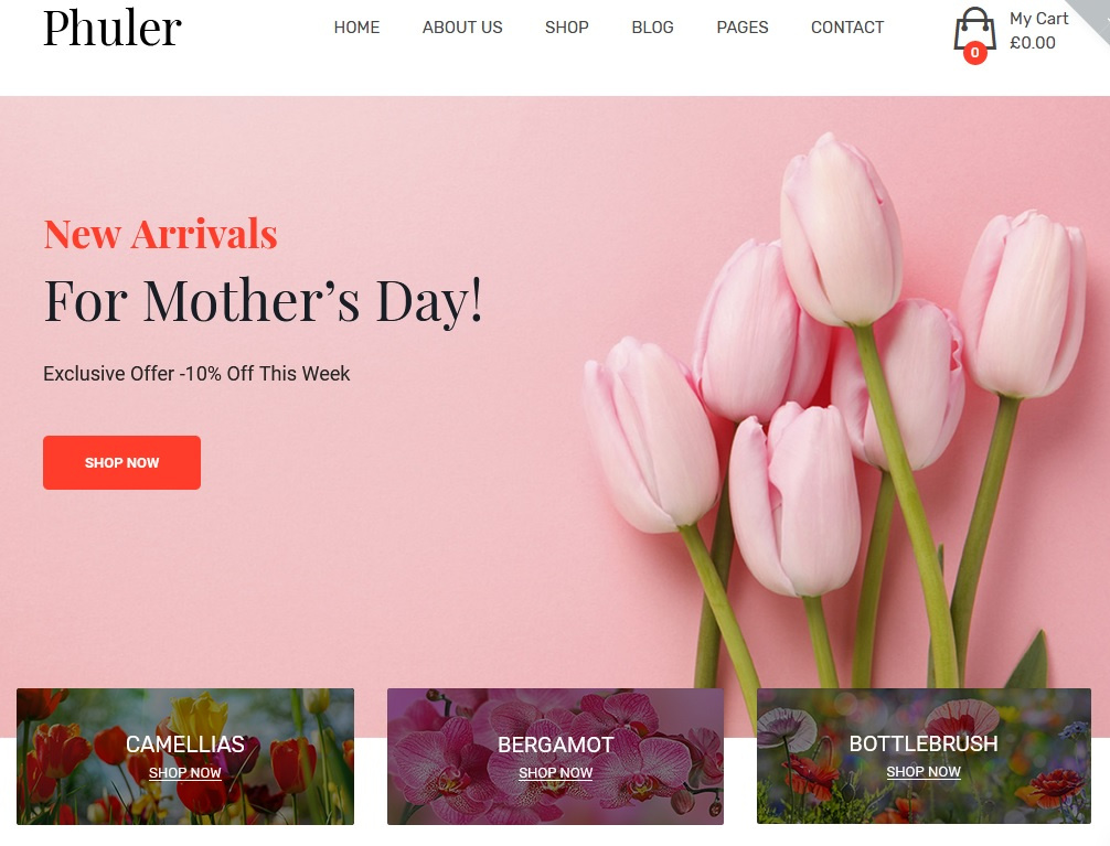 The best flower shop WordPress themes 2020 7