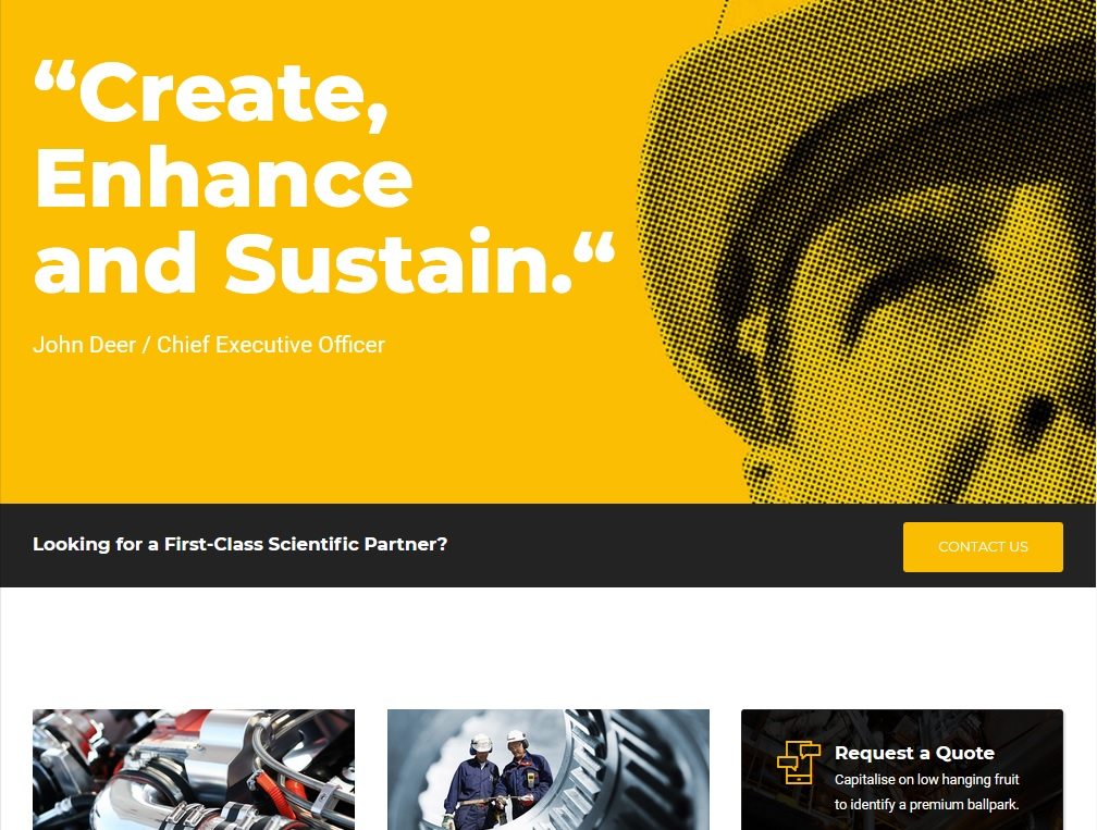 The top 10 Industrial Business WordPress Themes 2021 6