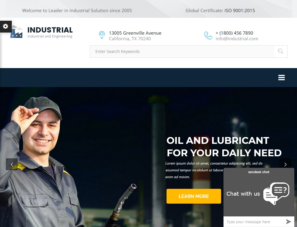 The top 10 Industrial Business WordPress Themes 2021 3