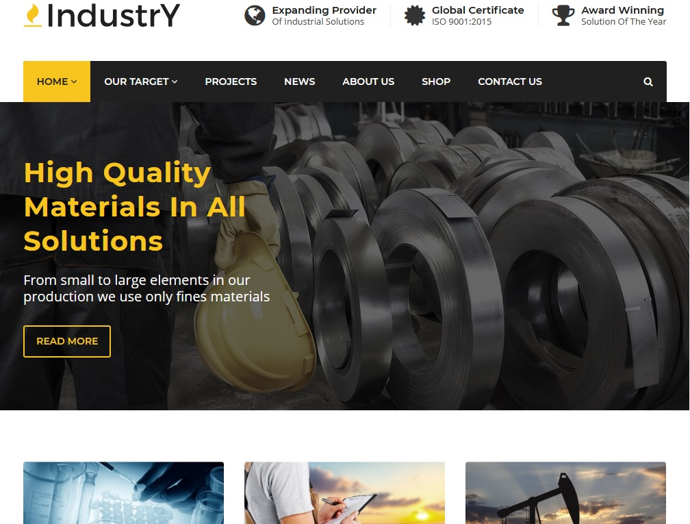 The top 10 Industrial Business WordPress Themes 2021 7
