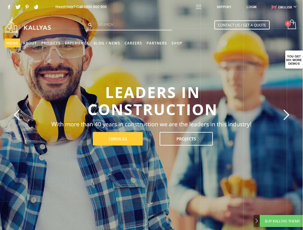 The top 10 Industrial Business WordPress Themes 2021 5