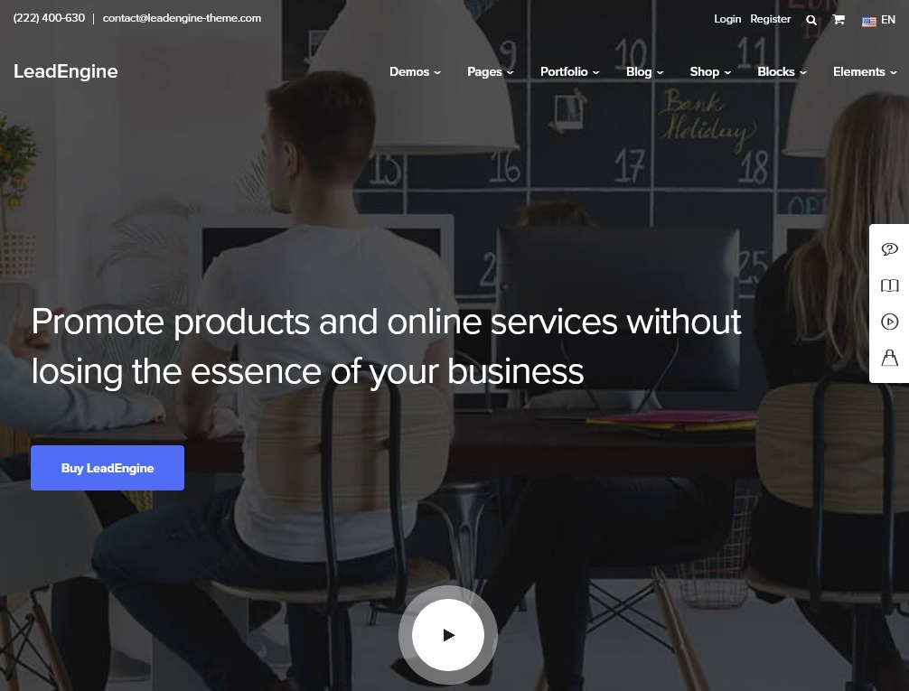 The top 10 Industrial Business WordPress Themes 2021 4