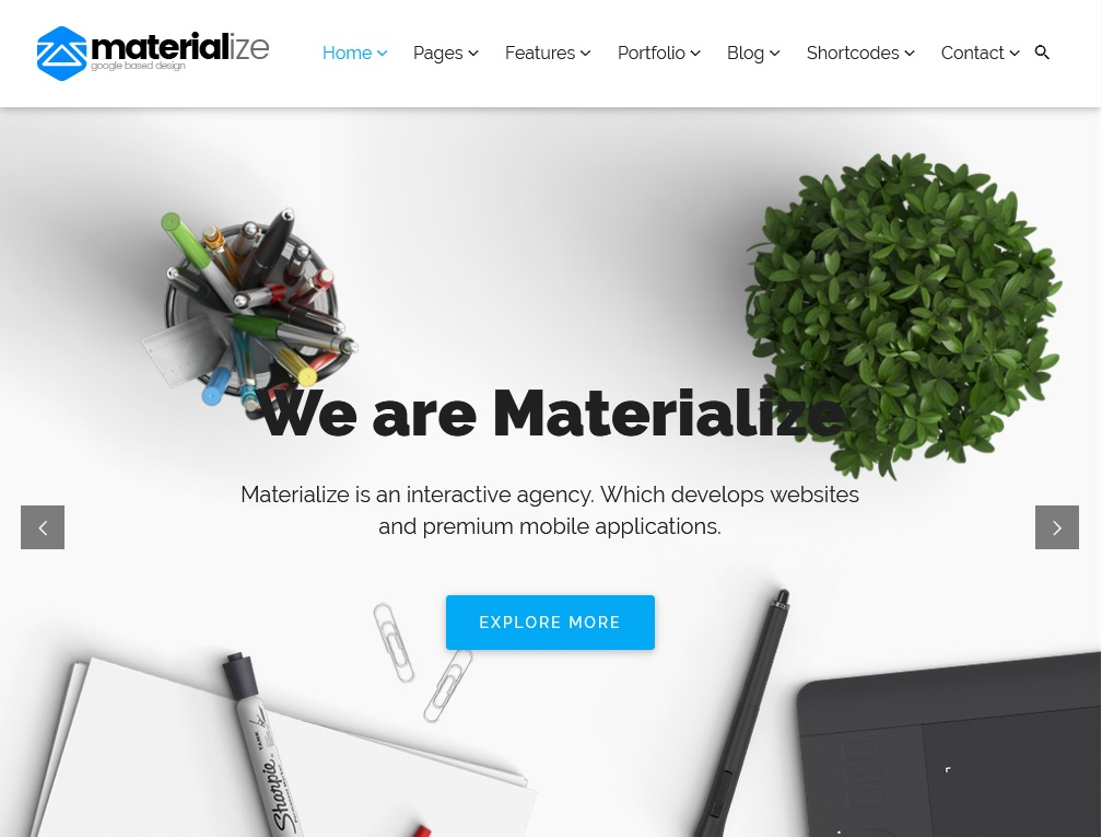 Best 10 WordPress Material Design Themes 3
