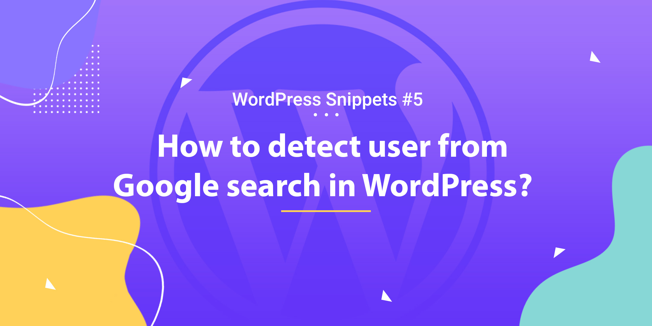 Detect User from Google Search in WordPress 1