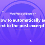 Automatically Add Text to the Post Excerpt 18