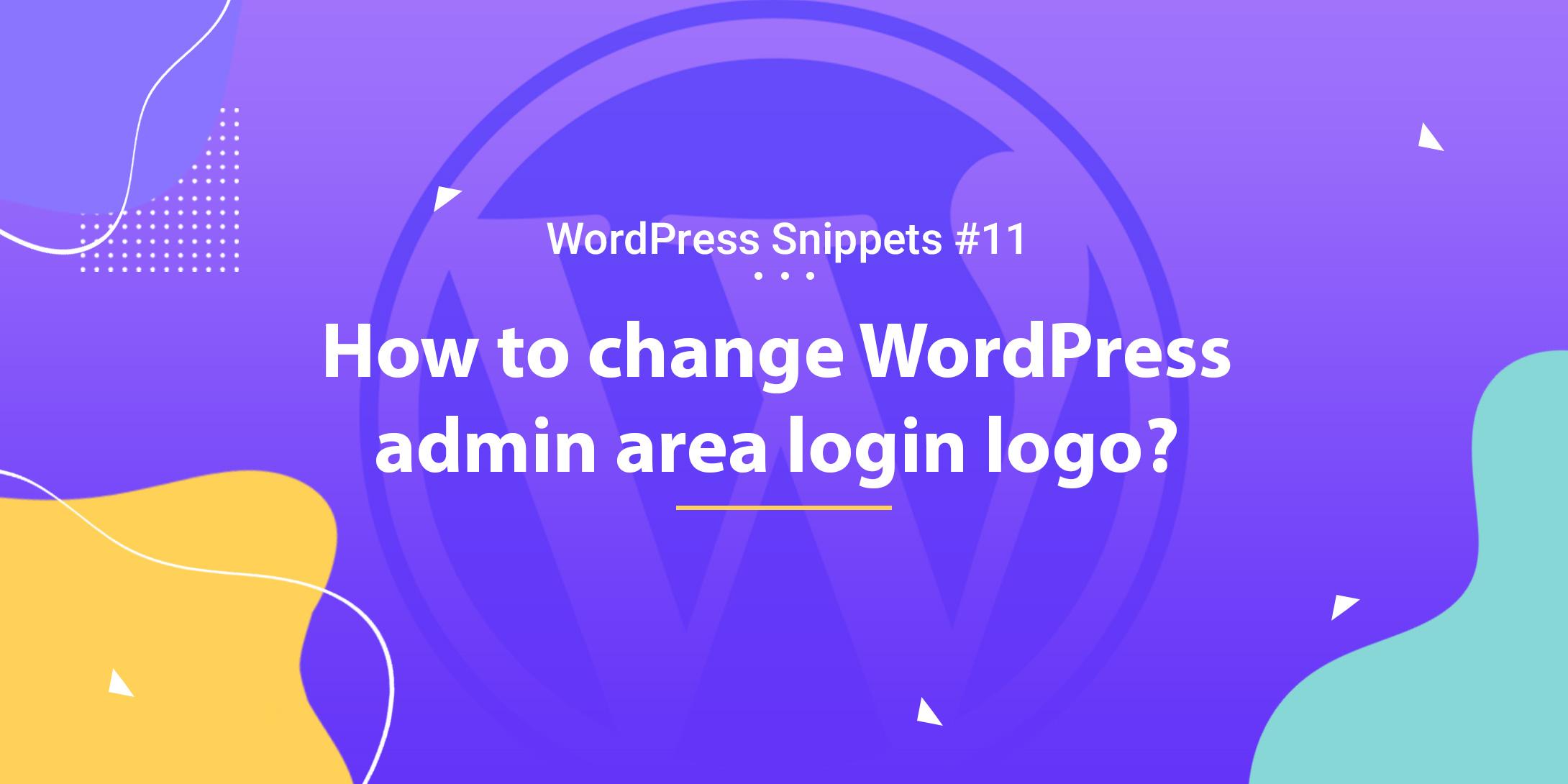 How To Change Admin Area Login Logo 1