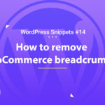 WooCommerce: Remove Breadcrumbs 10