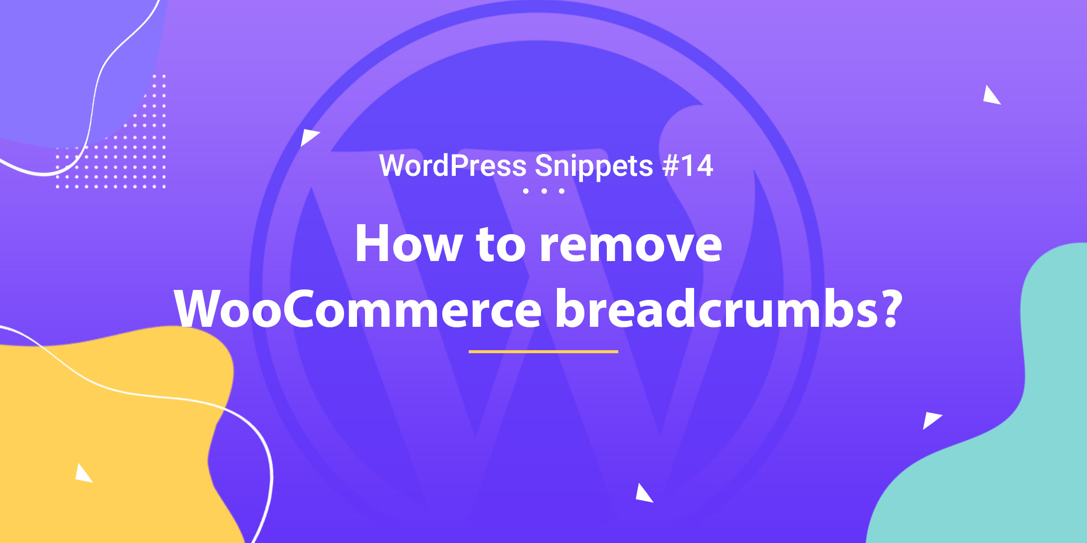 WooCommerce: Remove Breadcrumbs 1