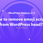 Remove Emoji Scripts from WordPress Head 12