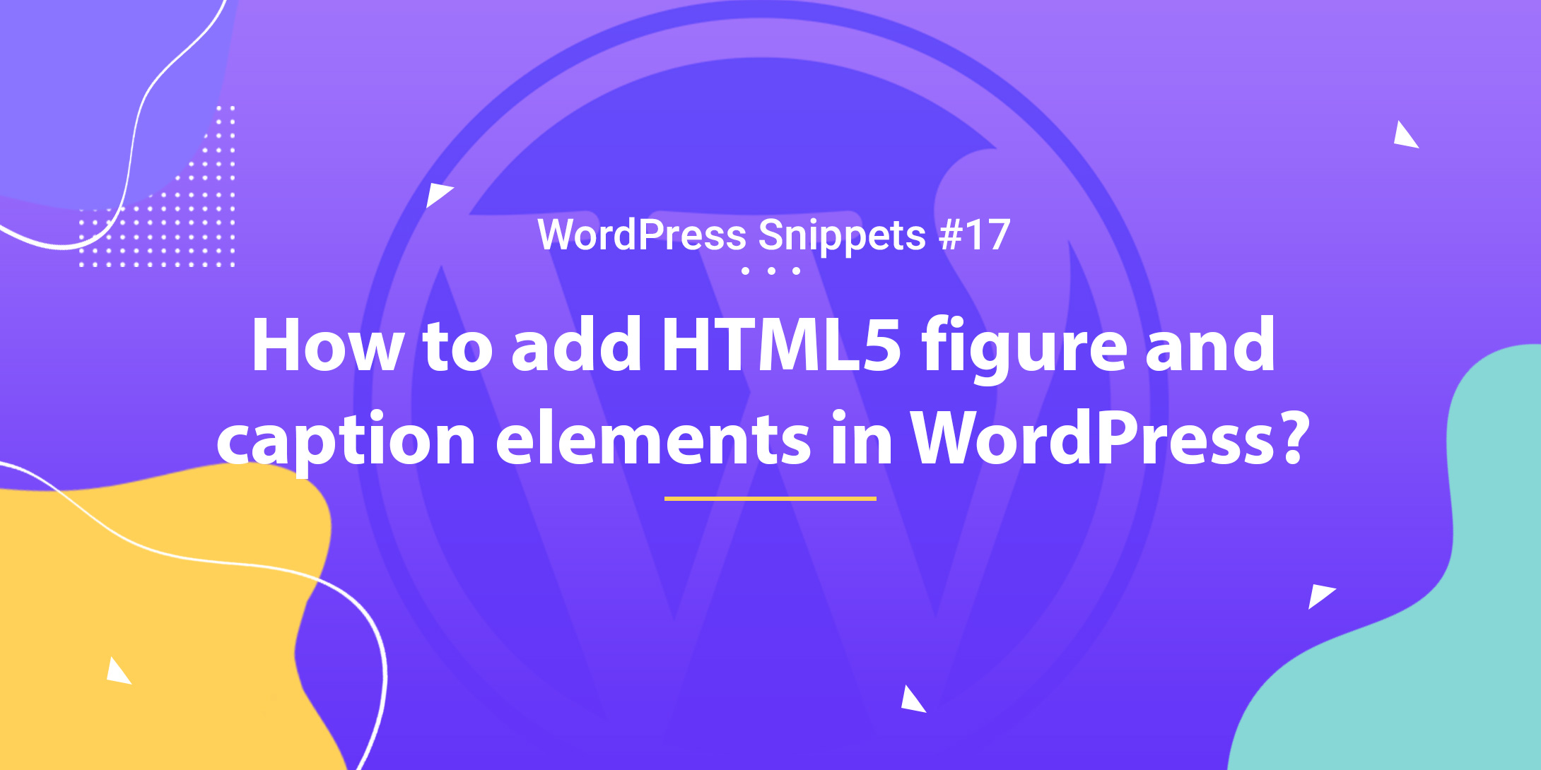 Add HTML5 Figure and Caption Elements in WordPress 1