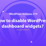 How To Disable Dashboard Widgets 6