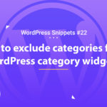 How to exclude categories from the WordPress category widget 14