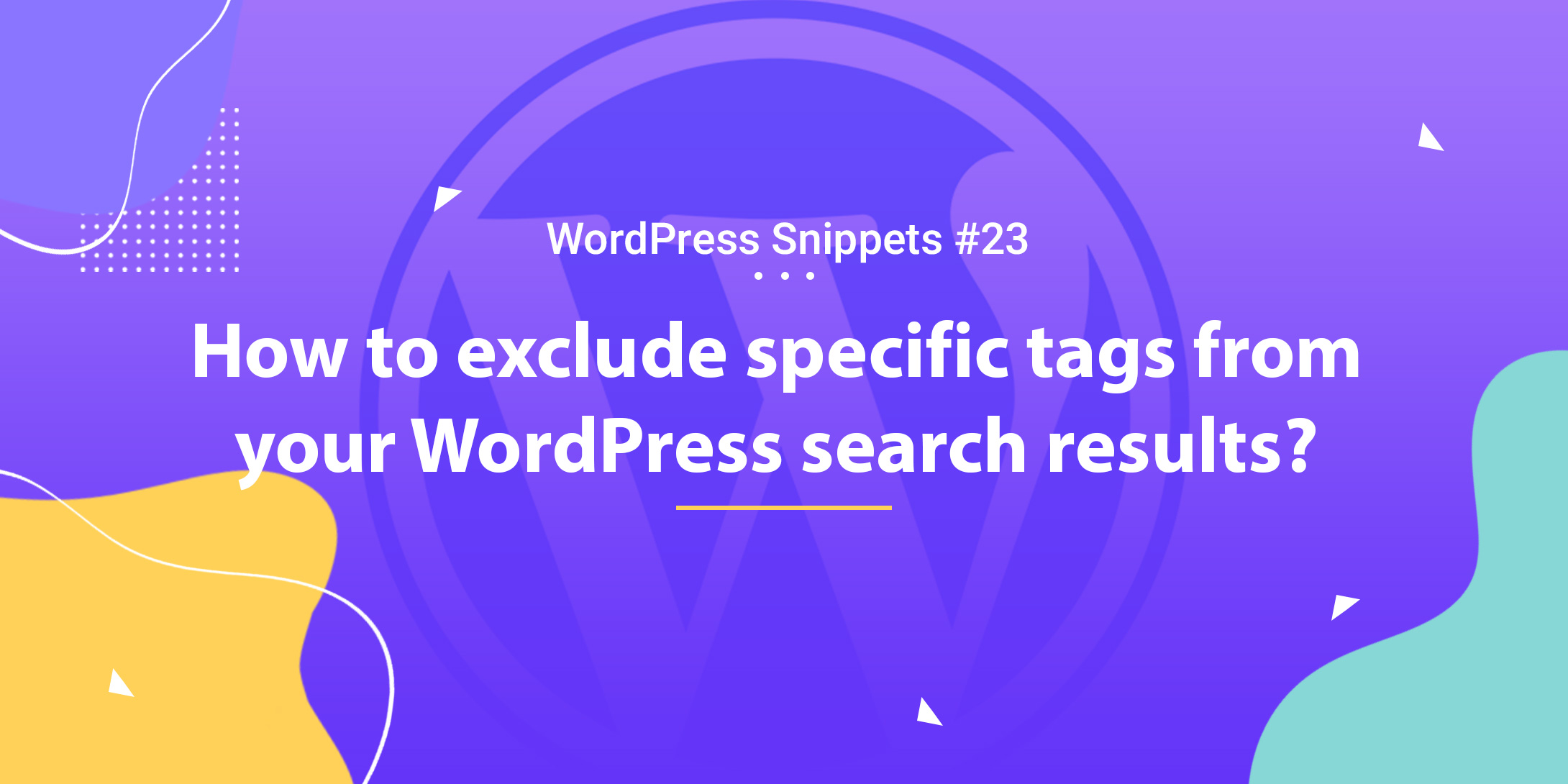 How to exclude specific tags from your search results 1