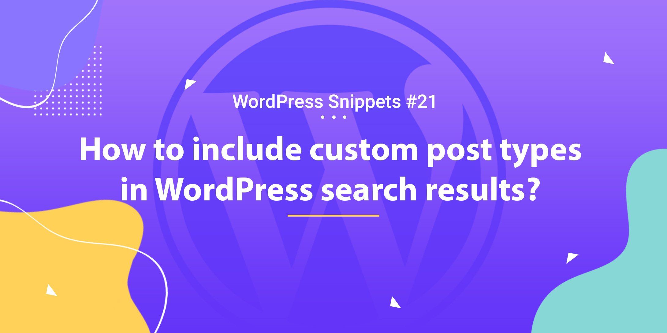 How to Include Custom Post Types in WordPress Search Results 1